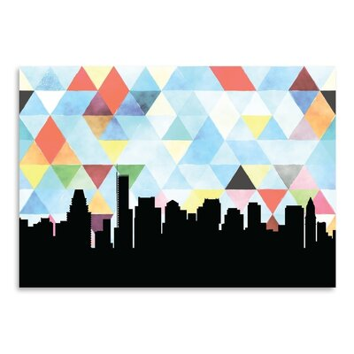 Americanflat 'Boston Triangle' by Paper Finch Graphic Art