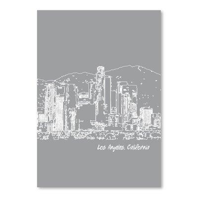 Americanflat 'Skyline Los Angeles 2' by Brooke Witt Graphic Art