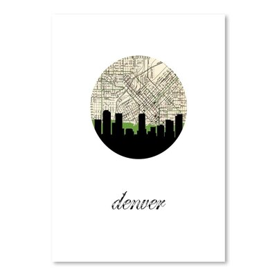 Americanflat 'Denver Map Skyline' by PaperFinch Graphic Art