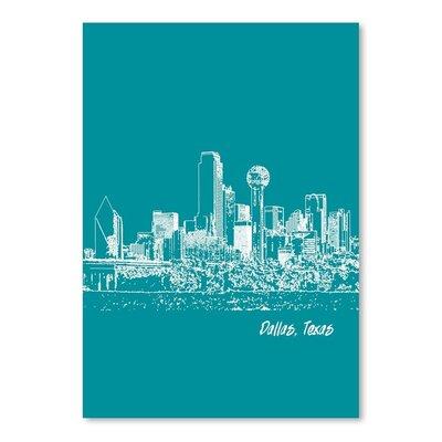 Americanflat 'Skyline Dallas 4' by Brooke Witt Graphic Art