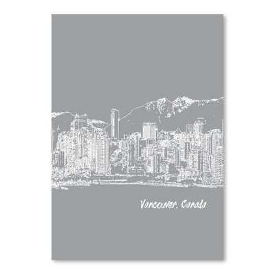 Americanflat 'Skyline Vancouver 2' by Brooke Witt Graphic Art