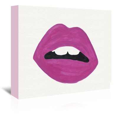 Americanflat 'Pink Lips' Art Print Wrapped on Canvas