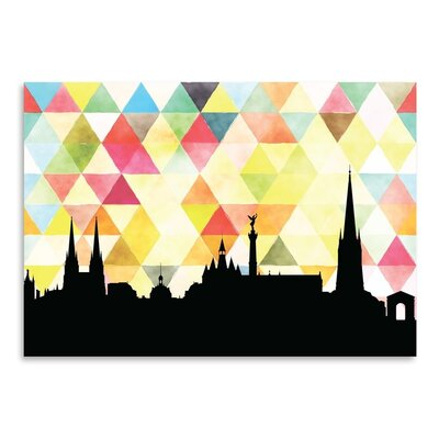 Americanflat 'Bordeaux Triangle' by Paper Finch Graphic Art