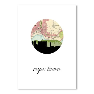 Americanflat 'Cape Town Map Skyline' by Paper Finch Graphic Art
