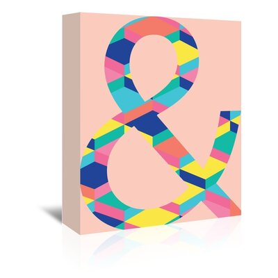 Americanflat 'Amperstand' by Ashlee Rae Graphic Art Wrapped on Canvas in Pink