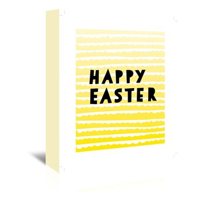 Americanflat 'Happy Easter' by Ashlee Rae Typography Wrapped on Canvas