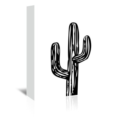 Americanflat 'Cactus on White' by Ashlee Rae Graphic Art Wrapped on Canvas