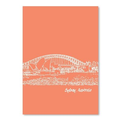 Americanflat 'Skyline Sydney 8' by Brooke Witt Graphic Art