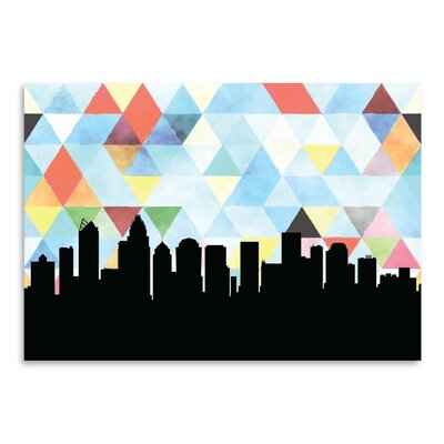 Americanflat 'Charlotte Triangle' by Paper Finch Graphic Art