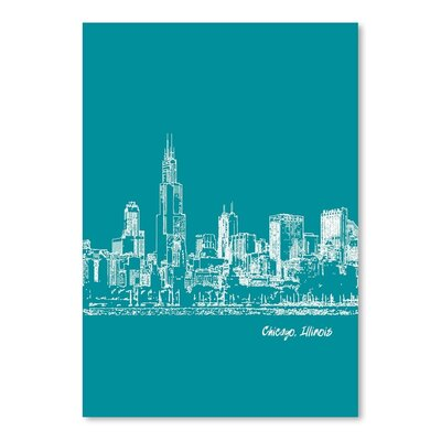Americanflat 'Skyline Chicago 4' by Brooke Witt Graphic Art