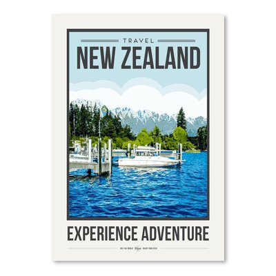 Americanflat 'Travel Poster New Zealand' by Brooke Witt Vintage Advertisement