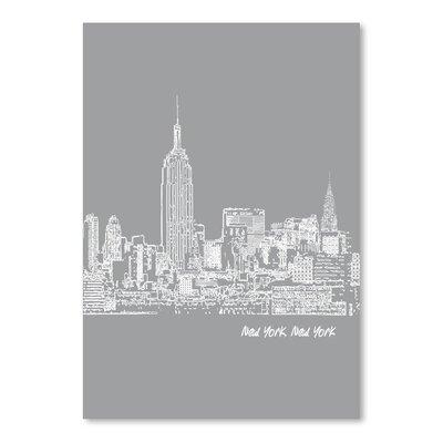 Americanflat 'Skyline New York City 2' by Brooke Witt Graphic Art