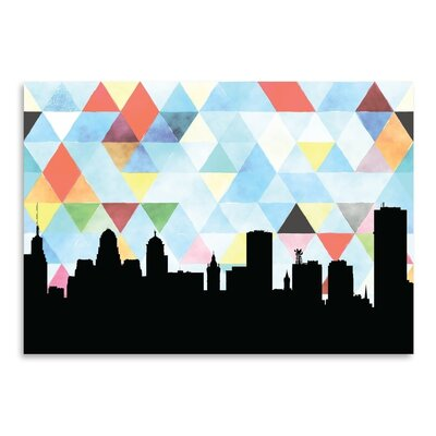 Americanflat 'Buffalo Triangle' Print by Paper Finch Graphic Art
