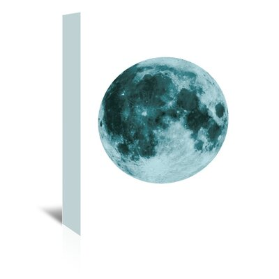 Americanflat 'Moon' by The Glass Mountain Graphic Art Wrapped on Canvas