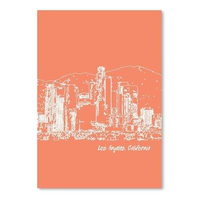 Americanflat 'Skyline Los Angeles 8' by Brooke Witt Graphic Art
