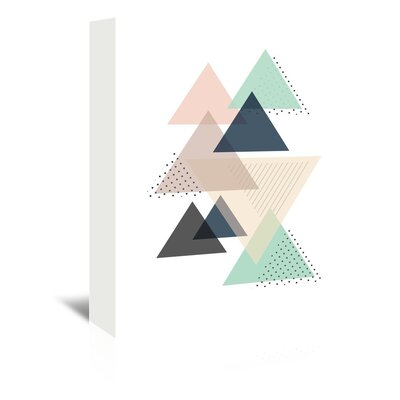 Americanflat 'Triangles_Pnbc' by The Glass Mountain Graphic Art Wrapped on Canvas