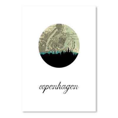 Americanflat 'Copenhagen Map Skyline' by Paper Finch Graphic Art