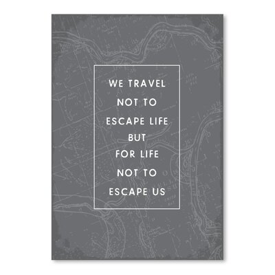 Americanflat 'Type Travel Quote' by Brooke Witt Typography