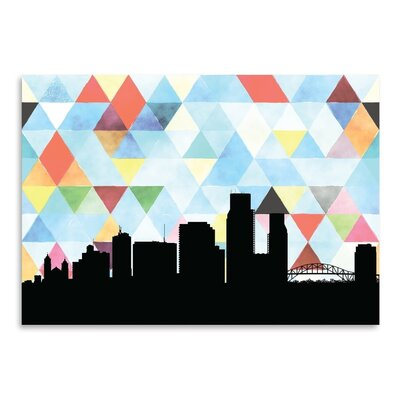 Americanflat 'CorpusChristi Triangle' by PaperFinch Graphic Art