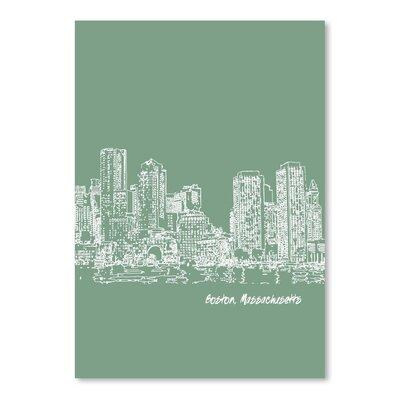 Americanflat 'Skyline Boston 6' by Brooke Witt Graphic Art