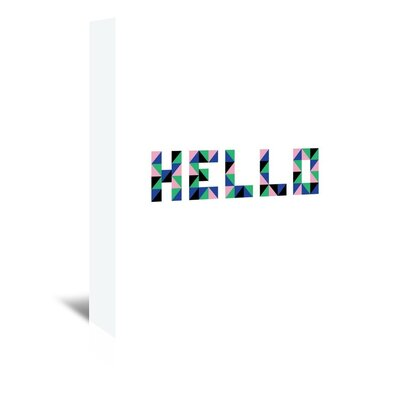 Americanflat 'Hello Geo' by Ashlee Rae Typography Wrapped on Canvas