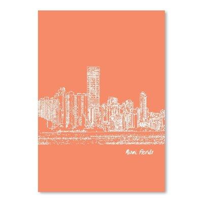 Americanflat 'Skyline Miami 8' by Brooke Witt Graphic Art