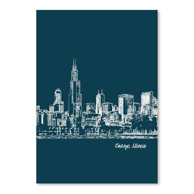 Americanflat 'Skyline Chicago 3' by Brooke Witt Graphic Art