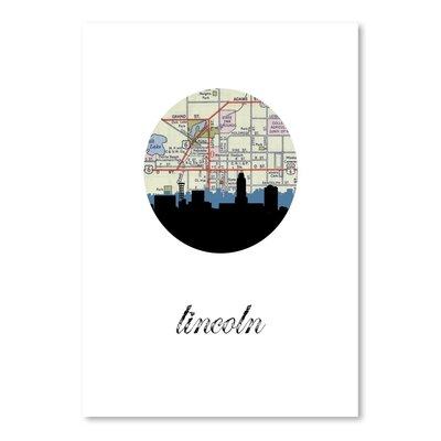 Americanflat 'Lincoln Map SKyline' by PaperFinch Graphic Art