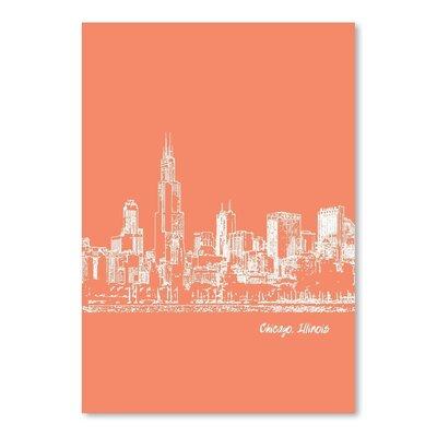 Americanflat 'Skyline Chicago 8' by Brooke Witt Graphic Art