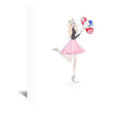 Americanflat 'Paris Ballons' by Alison B Art Print Wrapped on Canvas