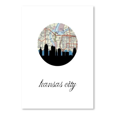 Americanflat 'Kansas City Map Skyline' by PaperFinch Graphic Art