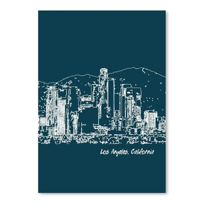 Americanflat 'Skyline Los Angeles 3' by Brooke Witt Graphic Art