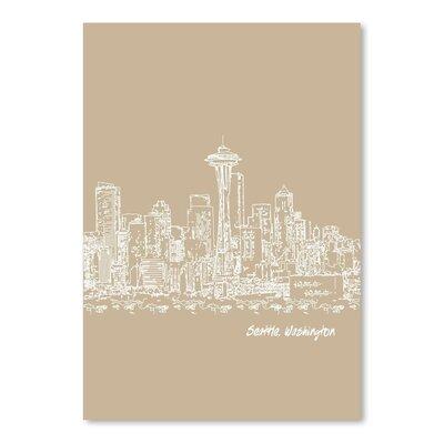 Americanflat 'Skyline Seattle 7' by Brooke Witt Graphic Art