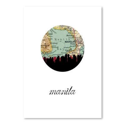 Americanflat 'Manila Map Skyline' by PaperFinch Graphic Art