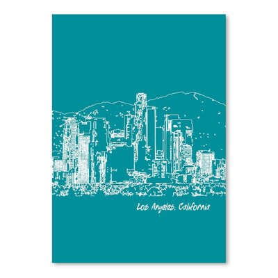 Americanflat 'Skyline Los Angeles 4' by Brooke Witt Graphic Art