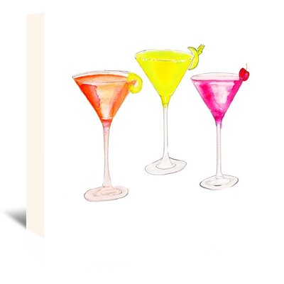 Americanflat '3 Cocktail Glasses' by Alison B Art Print Wrapped on Canvas