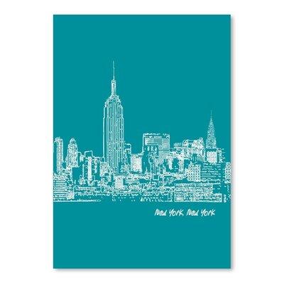Americanflat 'Skyline New York City 4' Print by Brooke Witt Graphic Art