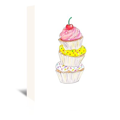 Americanflat 'Cupcakes' by Alison B Art Print Wrapped on Canvas
