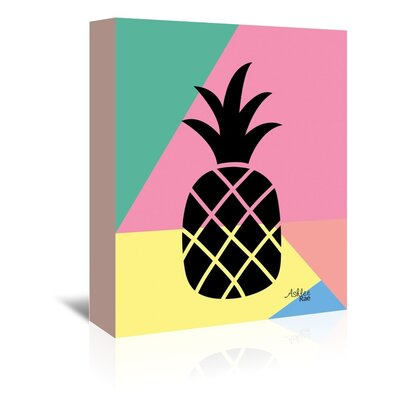 Americanflat 'Geometric Pineapple' by Ashlee Rae Graphic Art Wrapped on Canvas