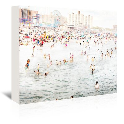 Americanflat 'Coney-Island-August' by Mina Teslaru Photographic Print Wrapped on Canvas