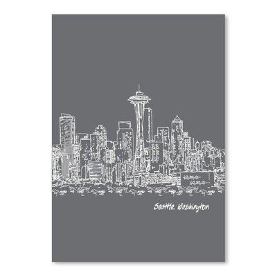 Americanflat 'Skyline Seattle 1' by Brooke Witt Graphic Art