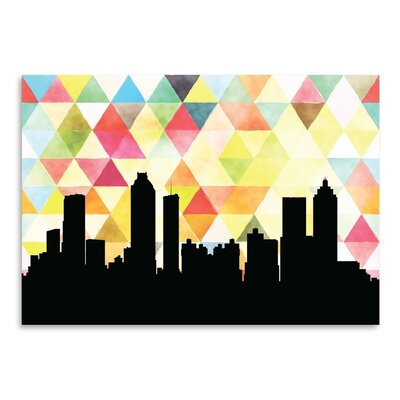 Americanflat 'Atlanta Triangle' by Paper Finch Graphic Art