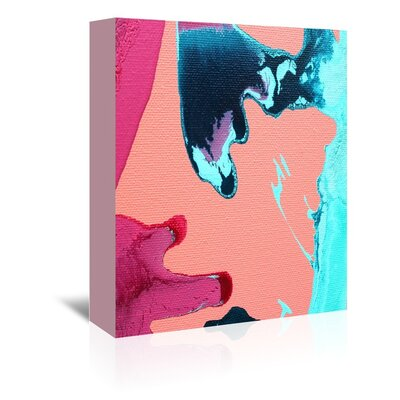 Americanflat 'Peach & Pink' by Deb McNaughton Graphic Art Wrapped on Canvas