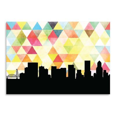 Americanflat 'Portland_Triangle' by PaperFinch Graphic Art