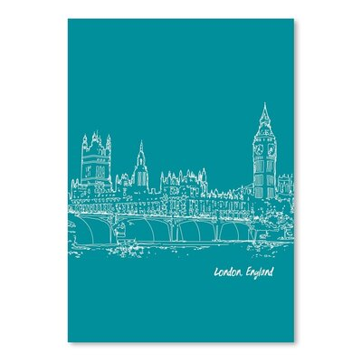 Americanflat 'Skyline London 4' by Brooke Witt Graphic Art