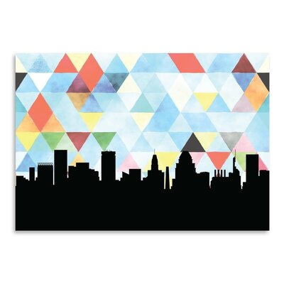 Americanflat 'Baltimore Triangle' by Paper Finch Graphic Art