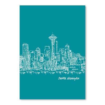 Americanflat 'Skyline Seattle 4' by Brooke Witt Graphic Art