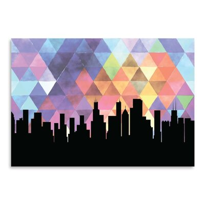 Americanflat 'Chicago Triangle' by Paper Finch Graphic Art