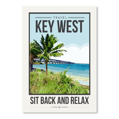 Americanflat 'Travel Poster Key West' by Brooke Witt Vintage Advertisement