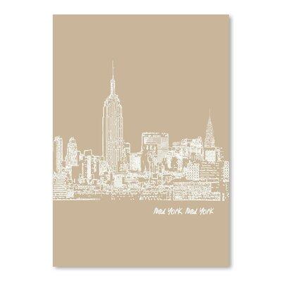 Americanflat 'SKyline New York City 7' by Brooke Witt Graphic Art